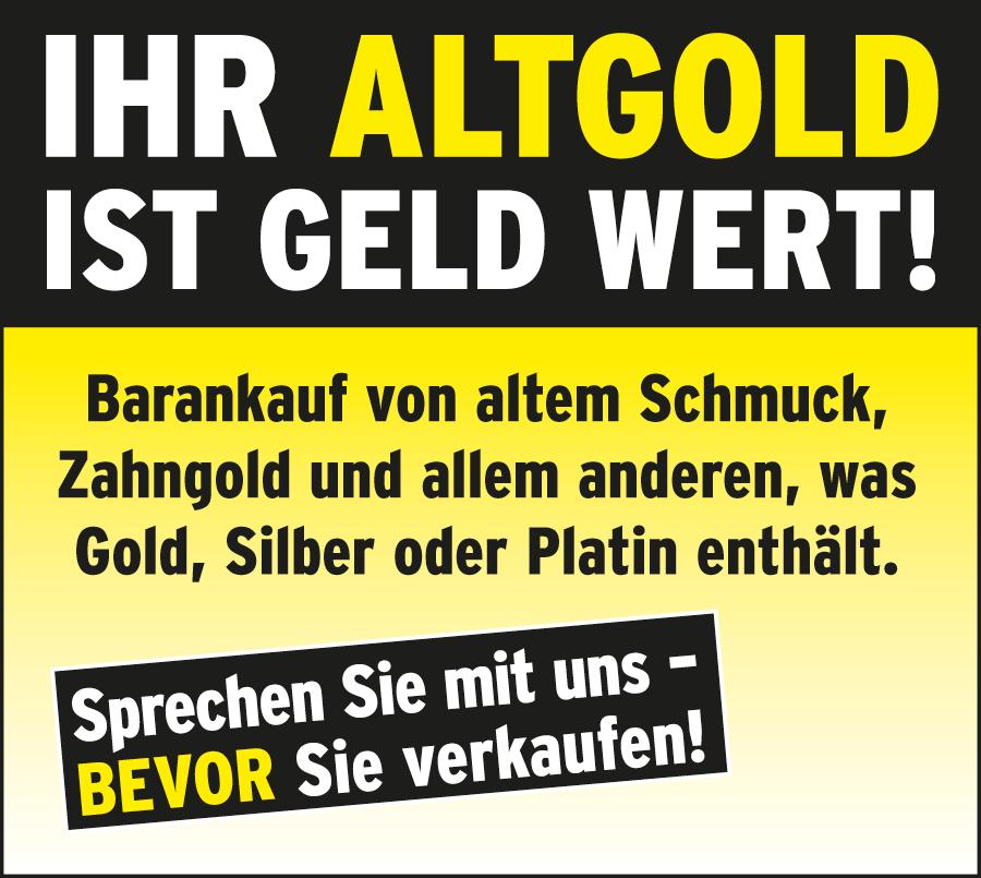 Ihr Altgold ist Geld wert!